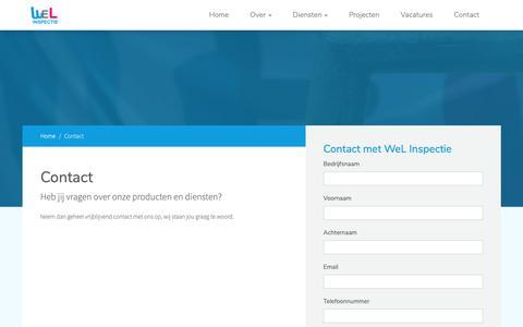 Screenshot of Contact Page wel-inspectie.nl - Contact met WeL Inspectie WeL Inspectie - captured Oct. 20, 2018
