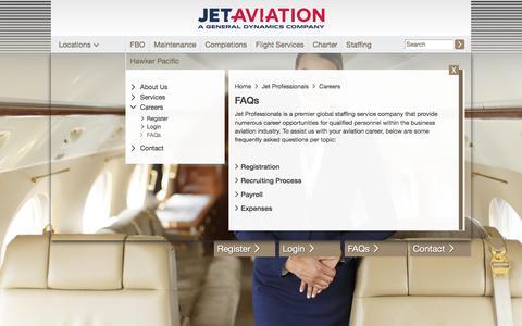 Screenshot of FAQ Page jetaviation.com - FAQs | jetaviation.com - captured Sept. 20, 2018