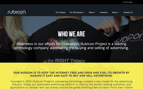 Screenshot of About Page rubiconproject.com - Who We Are - Rubicon Project - captured March 19, 2017