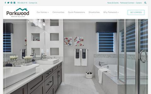 Screenshot of Home Page parkwoodmasterbuilder.com - Parkwood Master Builder - captured Nov. 4, 2018