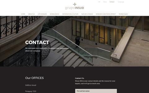 Screenshot of Contact Page grupoinsud.com - Contact - Grupo Insud - captured Nov. 5, 2018