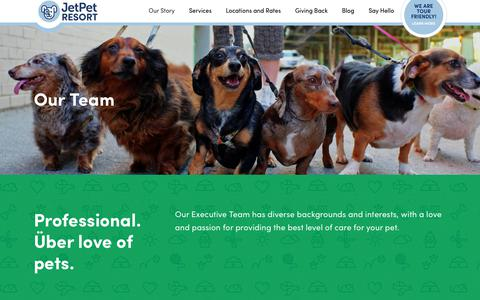 Screenshot of Team Page jetpetresort.com - Our Team   Jet Pet Resort - captured Sept. 20, 2018