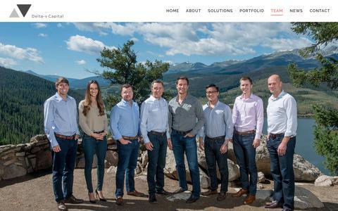Screenshot of Team Page deltavcapital.com - Team - Delta-v Capital - captured March 16, 2019