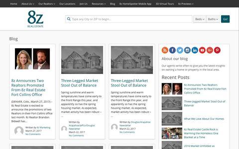 Screenshot of Blog 8z.com - Front Range, Colorado Springs and Bay Area Real Estate Blog | 8z Real Estate - captured March 30, 2017