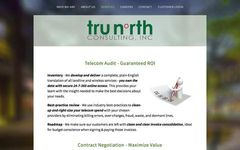 Screenshot of Services Page trunorthconsulting.com - Services — TruNorth Consulting, Inc. - captured Aug. 17, 2015