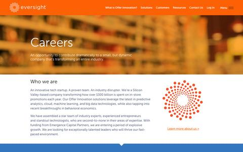 Screenshot of Jobs Page eversightlabs.com - Careers - Eversight - captured Oct. 28, 2014