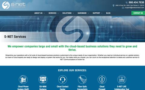 Screenshot of Services Page snetconnect.com - Services Archive - S-NET is Complete Cloud Solution Provider, Chicago - captured Oct. 1, 2018