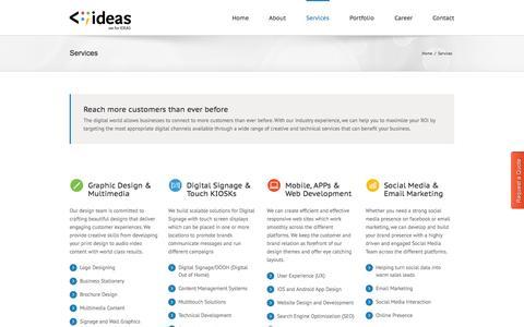 Screenshot of Services Page v4ideas.com - v4ideas | V4IDEAS - captured Oct. 27, 2014