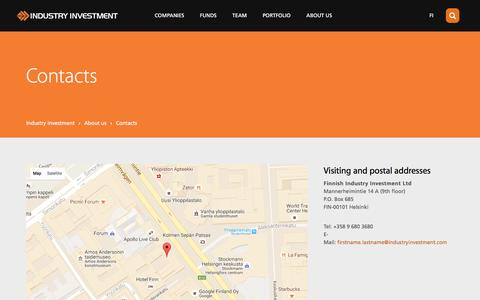 Screenshot of Maps & Directions Page industryinvestment.com - Contacts | Industry Investment - captured Nov. 25, 2016