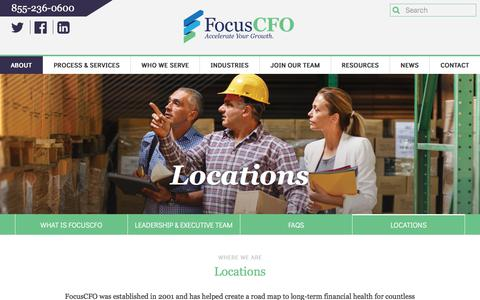 Screenshot of Locations Page focuscfo.com - Locations – FocusCFO - captured Aug. 18, 2018