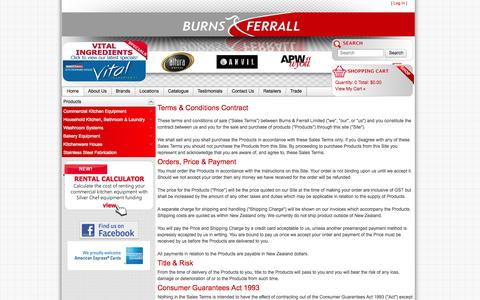 Screenshot of Terms Page burnsferrall.co.nz - Terms & Conditions Contract - captured Sept. 30, 2014