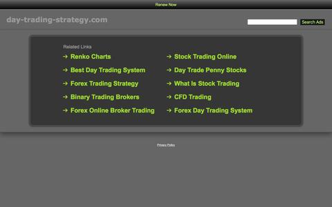 Screenshot of Home Page day-trading-strategy.com - Day-Trading-Strategy.com - captured May 21, 2016