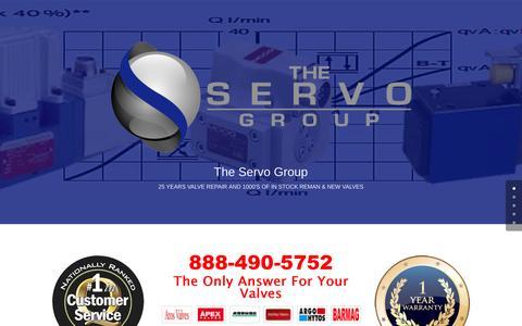 Screenshot of Home Page atlanticservo.com - Valve Repair, Reman Valves, New Valves 888-490-5752 - captured Feb. 4, 2017