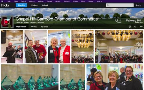 Screenshot of Flickr Page flickr.com - Flickr: Chapel Hill-Carrboro Chamber of Commerce's Photostream - captured Oct. 22, 2014
