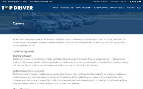 Careers - Top Driver Driving School