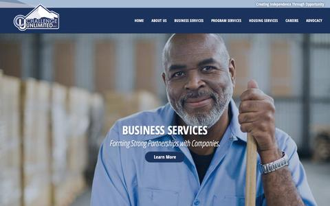 Screenshot of Home Page cuinc.org - A Trusted Business Partner Serving Disabled Individuals | Challenge Unlimited - captured Nov. 3, 2016