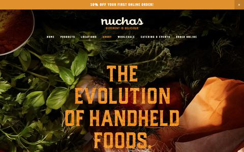 Screenshot of About Page nuchas.com - About — Nuchas - captured Feb. 23, 2019