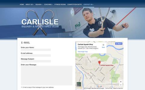 Screenshot of Contact Page carlislesrc.co.uk - Contact Details - captured June 13, 2016