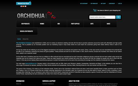 Screenshot of About Page orchidhua.com - About Us - captured Oct. 26, 2014