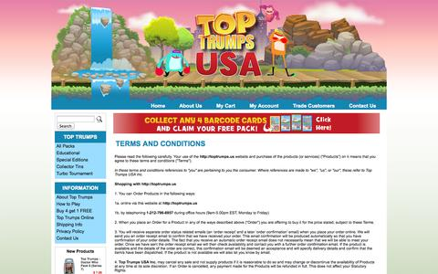 Screenshot of Terms Page toptrumps.us - Terms & Conditions | The Official Top Trumps USA Store - captured Oct. 7, 2014