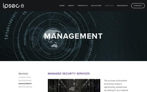 Screenshot of Team Page ipsec.com.au - Management — IPSec - captured Oct. 2, 2018