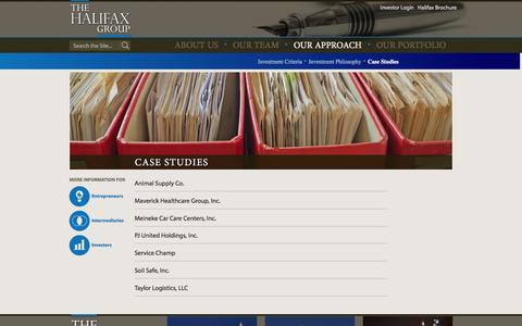 Screenshot of Case Studies Page thehalifaxgroup.com - Case Studies - The Halifax Group - captured Feb. 15, 2016