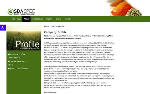 Screenshot of About Page sda-spice.com - Company Profile    | SDA Spice - captured July 25, 2018