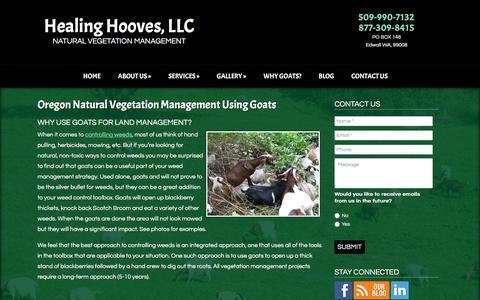 Screenshot of Team Page healinghooves.com - Oregon Vegetation Management Using Goats  | Healing Hooves LLC - captured Nov. 5, 2016