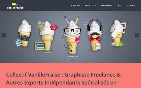 Screenshot of Home Page vanillefraise.eu - Graphiste Freelance & Co | Collectif VanilleFraise | Paris - captured March 4, 2016