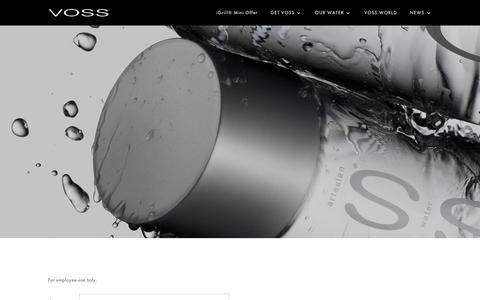 Screenshot of Login Page vosswater.com - Login - VOSS Water - captured Sept. 23, 2018