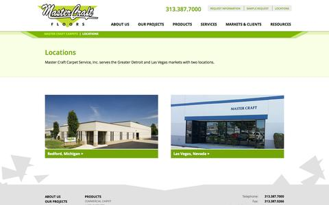 Screenshot of Locations Page mastercraftcarpets.com - Master Craft Carpets | Locations - captured Nov. 2, 2014