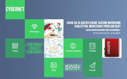 Screenshot of Home Page Blog cnn.rs - Cybernet   Sve o izradi web sajtova na jednom mestu - captured Oct. 3, 2014