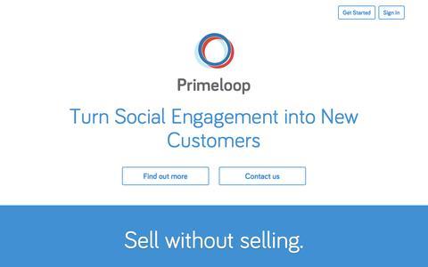 Screenshot of Home Page primeloop.com captured Sept. 17, 2014
