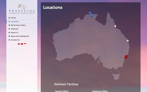 Screenshot of Locations Page pfinancial.com.au - Locations | Pfinancial - Financial Consultants, Accounting, Superannuation, Professional Investment Services - captured Oct. 2, 2014