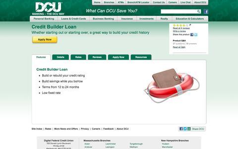 Credit Builder Loans | DCU | Massachusetts | Hampshire
