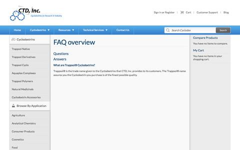Screenshot of FAQ Page cyclodex.com - Frequently Asked Questions - Magento Commerce - captured Oct. 1, 2014