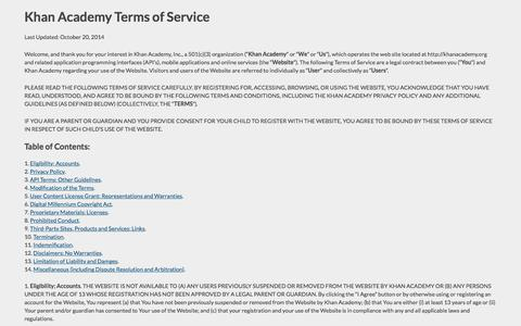 Terms of Service | Khan Academy