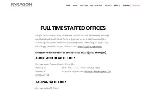 Screenshot of Contact Page paragonnz.com - Paragon NZ - Contact - captured Sept. 26, 2018