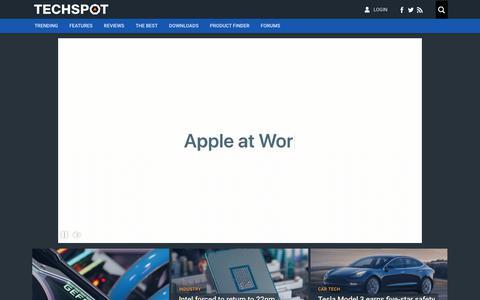 Screenshot of Home Page techspot.com - TechSpot : Tech Enthusiasts, Power Users, Gamers - captured Sept. 21, 2018