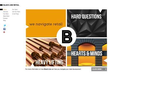 Screenshot of Home Page blacklineretail.com.au - Home | Black Line Retail - captured Sept. 30, 2014