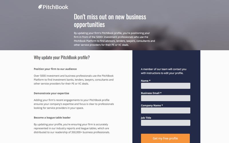 Update your PitchBook Profile