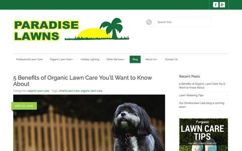 Screenshot of Blog paradise-lawn.com - Blog - Paradise Lawns - captured June 21, 2016