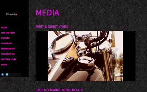 Screenshot of Press Page leatherandlacemc.com - Media | Leather & Lace MC - captured Jan. 27, 2016