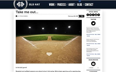 Screenshot of Blog oldhatcreative.com - Blog | Old Hat Creative - captured Feb. 21, 2016