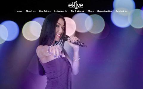 Screenshot of Home Page el-live.com - el-live Productions | Live gigs in Asia for musicians and singers - captured Sept. 25, 2018