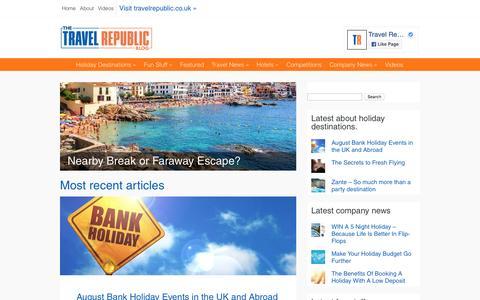 Screenshot of Blog travelrepublic.co.uk - The TravelRepublic Blog - captured Aug. 21, 2016