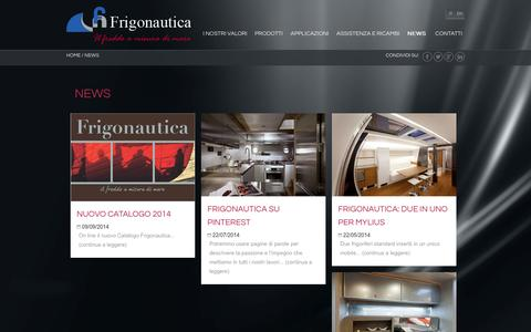 Screenshot of Press Page frigonautica.it - Mobili in acciaio inox per imbarcazioni da diporto - Frigonautica - captured Sept. 23, 2014