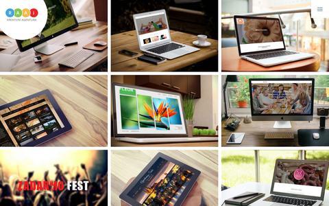 Screenshot of Home Page raai.cz - Vítejte   Kreativní agentura RAAi - webdesign, tvorba www stránek, grafika, aplikace, marketing - captured Oct. 15, 2018