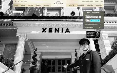 Screenshot of Home Page hotelxenia.co.uk - Hotel Xenia London - Official Website - Central London Hotels - Cromwell Rd - captured Dec. 13, 2015