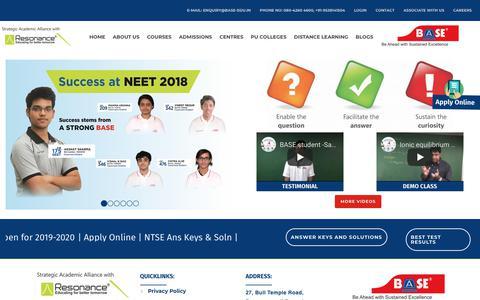 Screenshot of Home Page base-edu.in - Base-Edu :: Home - captured Dec. 16, 2018